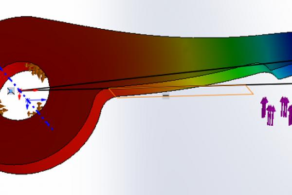 Angle de déformation SOLIDWORKS Simulation : comment le calculer ?