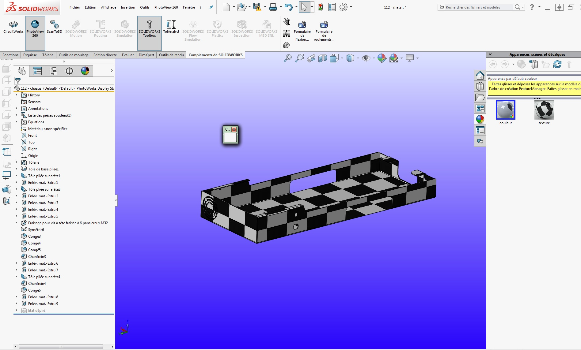 apparences solidworks