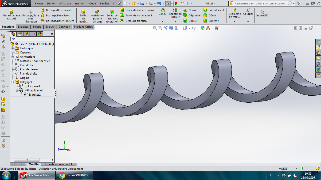 hélice solidworks