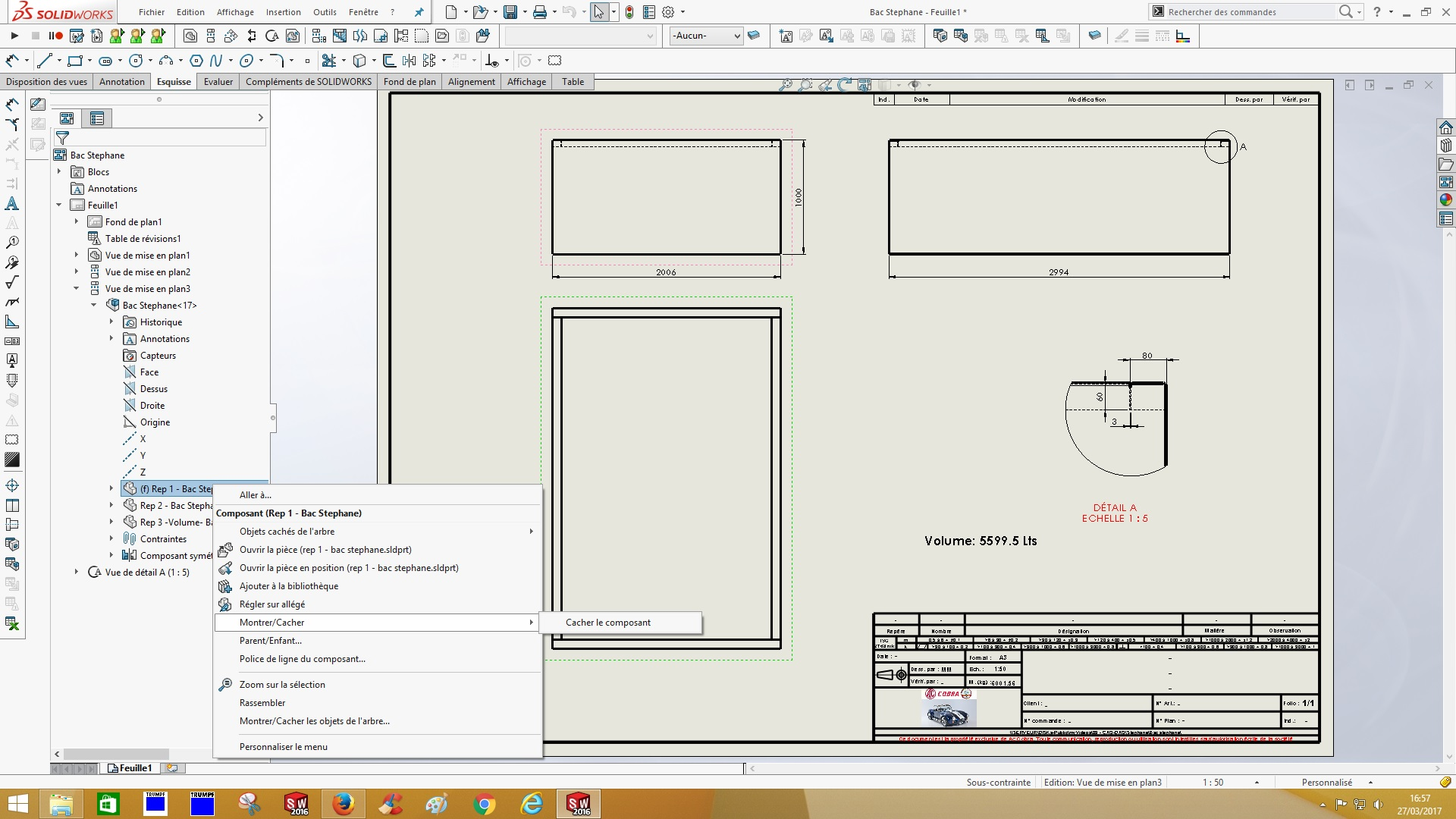 forum solidworks cacher montrer les corps sur mise en plan. Black Bedroom Furniture Sets. Home Design Ideas